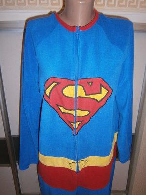 Мужская пижама-кигуруми, домашний костюм, слип Superman