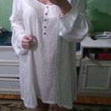 Белая пляжная платье туника айвори