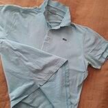 Футболка тениска фирменная голубая Lacoste р.48