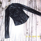 Кожаная куртка New Look для девочки 15-17 лет. размер 6