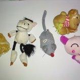 Лот.маленьких игрушек брелок игрушка кукле для куклы собачка свинка поросенок маленькая