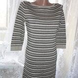 Теплое платье Topshop р.10 ог 80-94, рук.42, дл.70