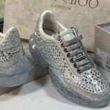 Женские трендовые кроссовки камни Jimmy Choo