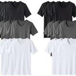 Новые 2 шт футболки Livergy, серая и черная футболка