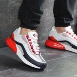 Nike Air Max 95 Max 270 кроссовки мужские демисезонные белые с красным 7570