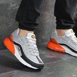 Nike Air Max 95 Max 270 кроссовки мужские демисезонные серые с оранжевым 7577