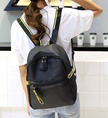Стильный женский рюкзак черный. Женский портфель сумка