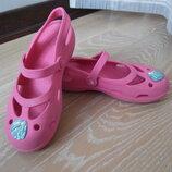 кроксы 20,5 см резиновая рр J 1 обувь для пляжа розовые Crocs Крокс