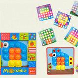 Мозаика для самых маленьких с крупными фишками и шаблонами KI-7061