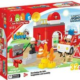Конструктор JDLT 5151 Аналог Lego Duplo Свет Звук Пожарная станция 32детали