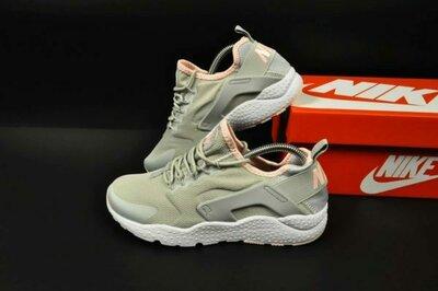 new style 0b9f6 76387 подростковые кроссовки Nike Huarache 37-41р персиковые и серые с розовым