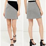 Красивая жаккардовая юбка в стиле color block р.16