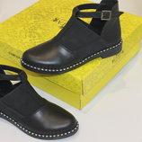 Новинки 2019.туфли - ботинки, натуральные материалы, с 36-41р