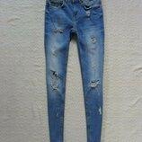 Стильные джинсы скинни Zara, 34 размер.