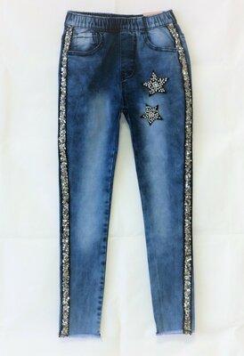 Низкая цена- супер качество Стильные летние джинсы для девочки Венгрия