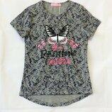 Низкая цена- супер качество Стильные футболки для девочки Венгрия