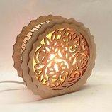 Светильник круглый, разные узоры