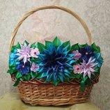 Украшение на пасхальную корзину пасхальный декор кошик