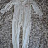 новый слип пижама TU 18-24 мес рост 86-92 Англия