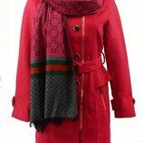 Пальто шерстяное Gucci розовое в наличии