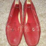 Мокасины кожаные Clarks 38-39 размер красные