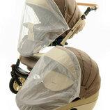 Москитная сетка на коляску белая, серая и чёрная