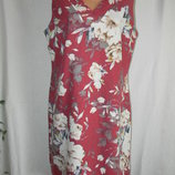 Новое платье лен с цветочным принтом Peacocks 16p