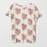 Нарядная новая футболка h&m из Aмерики размер s, но идет на м