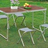 Раскладной туристический стол для пикника со стульями Новинка 2019г