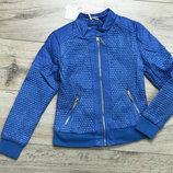 Крутая комбинированная куртка с экокожи, 98-128, польша
