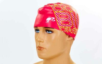 Шапочка для плавания детская Arena Barbie 91672-91 силикон, розовый