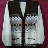 Теплая мужская кофта, кардиган, свитер. р.X L, 52-54.