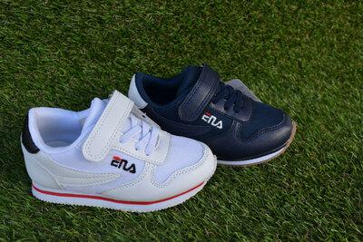 3a1f8972 Детские кроссовки на липучке Fila фила белые 26-31. Previous Next