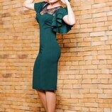 Элегантное вечернее платье Флоренс с кружевом