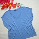 Суперовая стильная легкая стрейчевая футболка в полоску с люрексом вискоза M&S .