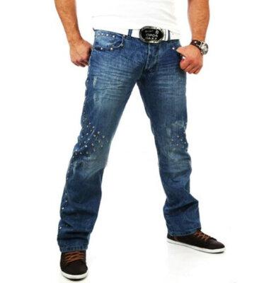 Брендовые мужские голубые коттоновые джинсы tazzio jeans турция