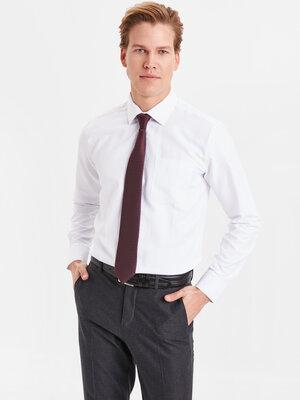 Мужская рубашка белая LC Waikiki / Лс Вайкики с карманом на груди