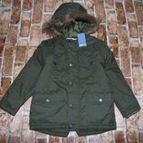 куртка парка утепленная деми 4-5лет Pepperts новая большой выбор одежды 1-16лет