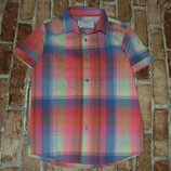 рубашка котон лето 7-8лет Зара сток большой выбор одежды 1-16лет