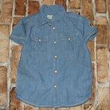 рубашка котон лето 3-4года Нм большой выбор одежды 1-16лет