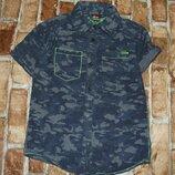 рубашка котон лето 10лет большой выбор одежды 1-16лет