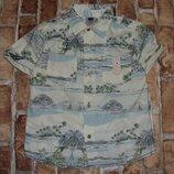 рубашка котон лето 4-5лет M&Co сток большой выбор одежды 1-16лет