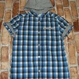 рубашка котон лето 10лет сток большой выбор одежды 1-16лет