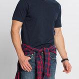 Мужская футболка синяя Lc Waikiki / Лс Вайкики с круглым вырезом