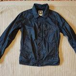 Классная фирменная короткая джинсовая куртка цвета деним G-Star raw Голландия M.
