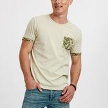 Мужская футболка оливкового цвета Lc Waikiki / Лс Вайкики с карманом на груди