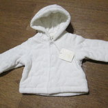 Кофта теплая велюровая, курточка на 0-1 мес OVS