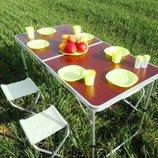 Раскладной стол 4 стула для активного отдыха