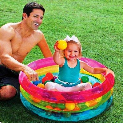 Детский надувной бассейн Intex 48674, 86 х 25 см, с шариками