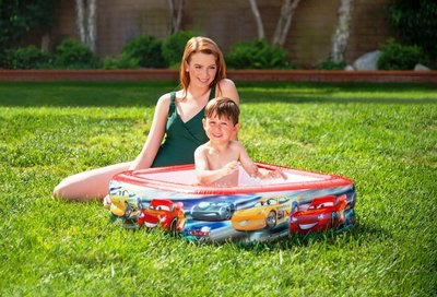 Детский надувной бассейн Intex 57101 Тачки 85 х 85 х 23 см